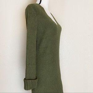 Something Navy Dresses - Something Navy Green Sweater Dress